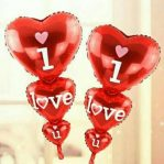 Balon Foil Love I Love You 3 Serangkai Warna Merah