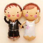 Balon Foil Sepasang Pengantin | Balon Bride & Groom