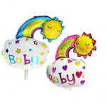 Balon Foil Baby Boy Baby Girl Rainbow Smile