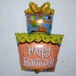 Balon Foil Happy Birthday Berbentuk Kado