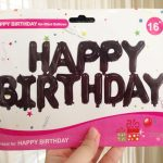 Balon Foil Huruf Happy Birthday Set