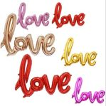 Balon Foil Love Tulisan Nyambung Latin Mini