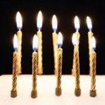 Lilin ulang tahun ulir / lilin spiral metalik