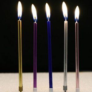 Lilin ulltah panjang warna-warni 6 in 1 / lilin lidi panjang warna warni